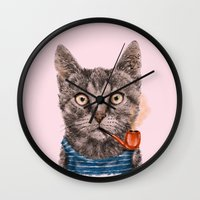 Sailor Cat IX Wall Clock