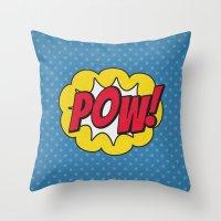 Pow! - 01 - Poster Throw Pillow