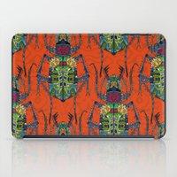 flower beetle orange iPad Case