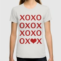 XO Womens Fitted Tee Silver SMALL