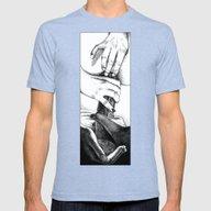 Apollonia Saintclair 605… Mens Fitted Tee Tri-Blue SMALL