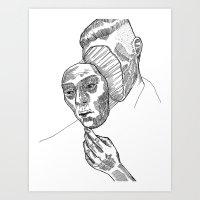 Mask 01 Art Print