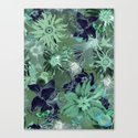 Flora Fauna (Pattern) Canvas Print