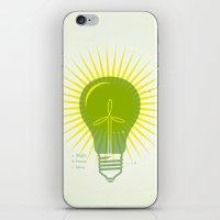 Bright Green Ideas iPhone & iPod Skin