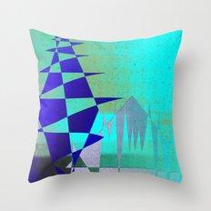 Cobalt Modiet Throw Pillow