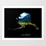 Alaska Outline - God's C… Art Print