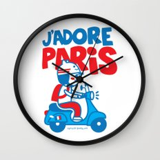 J´Adore Paris Wall Clock