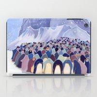 Huddling Penguins iPad Case