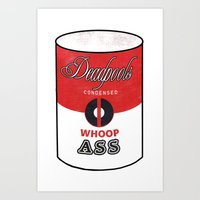 Deadpool's Can of Whoop-Ass! Art Print