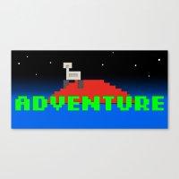 8-Bit Adventure On Mars Canvas Print