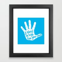 Hand To Face Framed Art Print