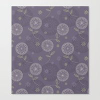 Folky Lace Flowers Canvas Print