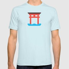 Japan Torii Mens Fitted Tee Light Blue SMALL