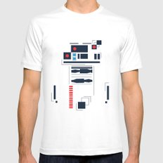 R2D2 Abstract SMALL White Mens Fitted Tee