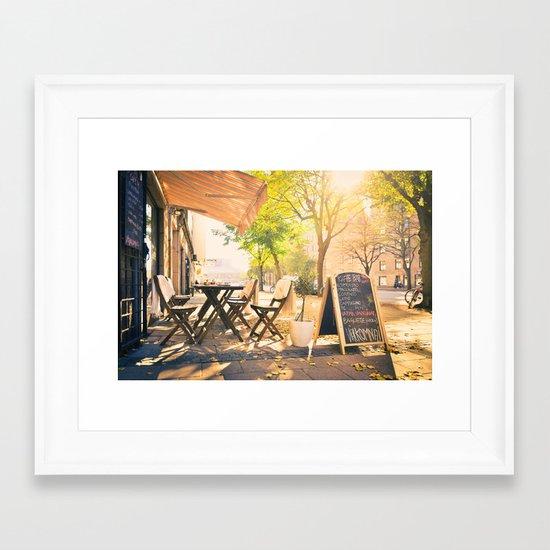 Swedish Sunsets & Coffee Framed Art Print