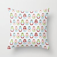 Matryoshka Doll 1 Throw Pillow