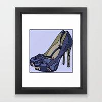 Blue sweet shoe -or....? Framed Art Print