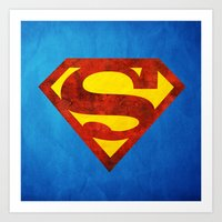 superman Art Prints featuring Superman by S.Levis