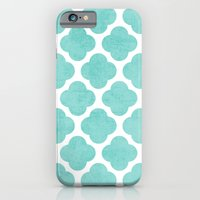 teal clover iPhone 6 Slim Case