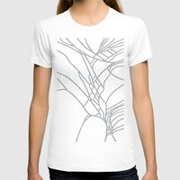 Cracked White On Grey Womens Fitted Tee White SMALL