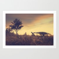 Sunsets And Forgotten Ca… Art Print