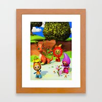The Flowerdroplets and the Leafdragon Framed Art Print