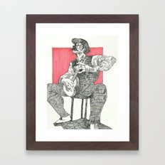 Fighting Through Framed Art Print