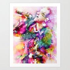 Bono singing Art Print