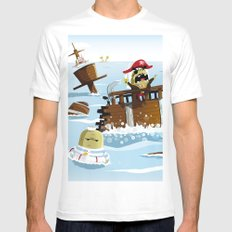 Pirates Mens Fitted Tee White SMALL