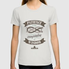 Patience Womens Fitted Tee Silver SMALL