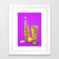 Happy Lemon Juice Framed Art Print