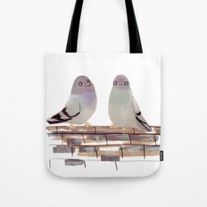 Pigeons in love Tote Bag