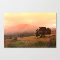 Early Fog In The Hills Canvas Print