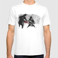 Samurai fight Mens Fitted Tee White SMALL