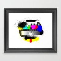 TV Trash Framed Art Print