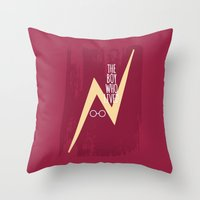 The Boy Who Lived - Burgandy Throw Pillow