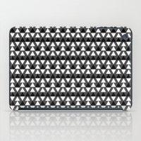 Black & White Triangles iPad Case