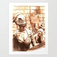 Silent Hill a Art Print