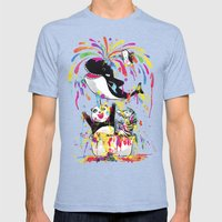 Yay! Bath Time! Mens Fitted Tee Tri-Blue SMALL