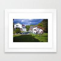 Lake Side Drive Framed Art Print