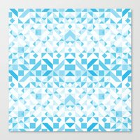 Geomtric Pastel Wave Canvas Print