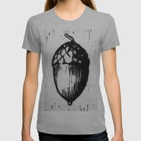 OUR TIME Womens Fitted Tee Athletic Grey SMALL