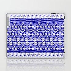 Symbolic cashmere on blue Laptop & iPad Skin