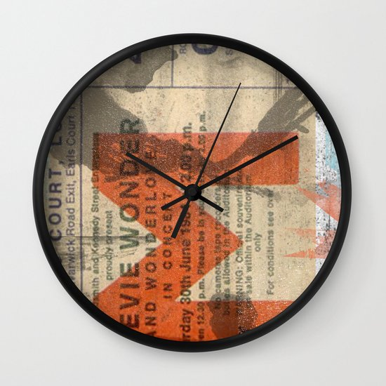 stevie wonder ticket stub Wall Clock