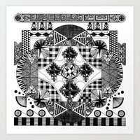 symmetry and a little bit of assymetry Art Print