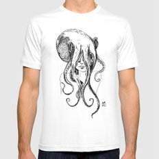 Octogirl White SMALL Mens Fitted Tee