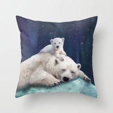Polar Bears Throw Pillow
