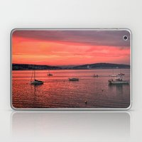 Mumbles Harbour after Sunset. Laptop & iPad Skin