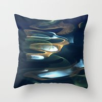 Water Abstract H2O #62 Throw Pillow