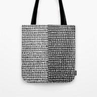 Black & White Circle Pat… Tote Bag